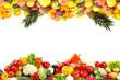 Leinwanddruck Bild - Fruit and Vegetable borders