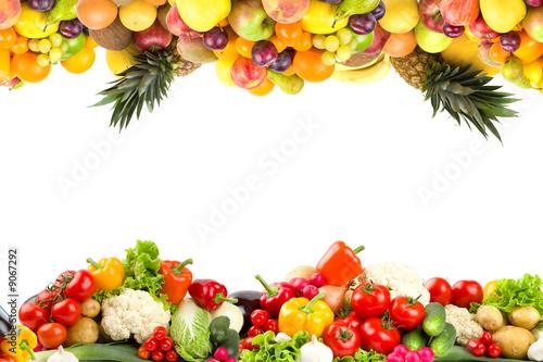 Leinwanddruck Bild Fruit and Vegetable borders