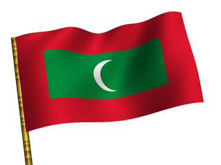 National Flag. Maldives