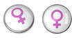 Button Pink Female Symbol