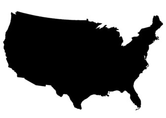 USA Map black