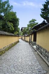 Historic Samurai house street, Kanazawa Japan.