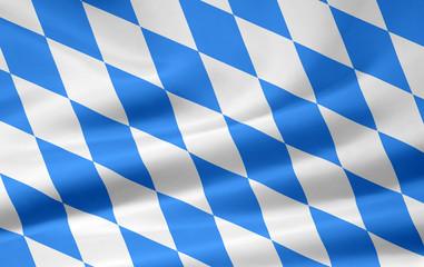 Bayrische Flagge - kleinere Karos