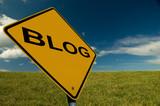 Blog Sign poster