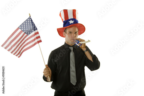 poster of A young man celebrating 4th of July