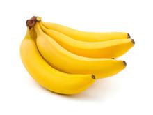 "Постер, картина, фотообои ""Bunch of bananas isolated on white background"""