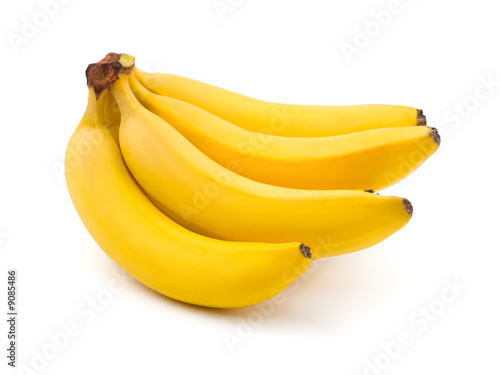 Fotobehang Vruchten Bunch of bananas isolated on white background
