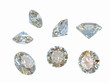 Diamonds isolated in different positions