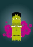 tiki zombie frankenstein poster