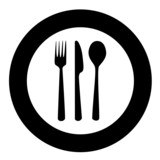 Plate and cutlery poster