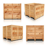 Wooden Crates - Includes an outline path for easy editing.