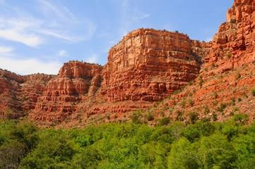 Red cliffs and rock formations at sedona arizona