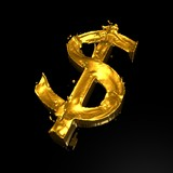 fluid gold dollar poster
