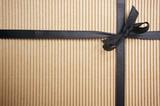 Corrugated Gift Box with Black Satin Ribbon poster