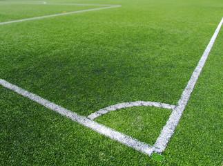 Fußballplatz Ecke