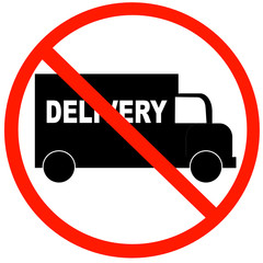truck with no delivery available symbol - illustration