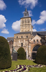 Medieval cathedral in Maastricht (Netherlands) with nice garden