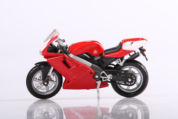 Model of a sports motorcycle
