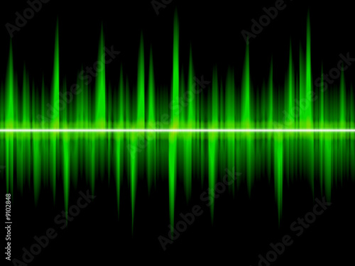 illustration of a sound wave. Digital background.
