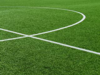 Fußballplatz Rasen-Kreise 2
