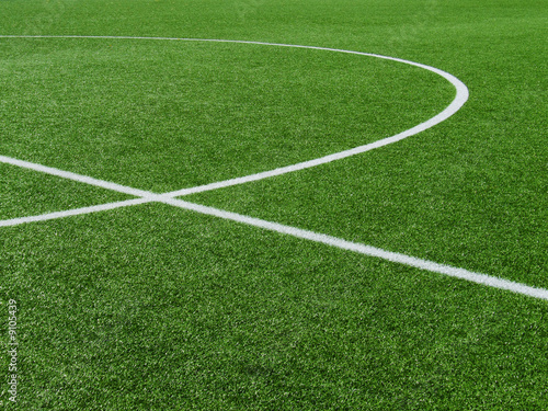 Fußballplatz Rasen-Kreise 2 - 9105439