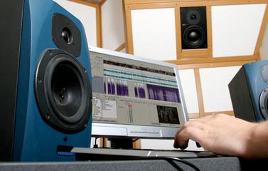 hands of audio engineer