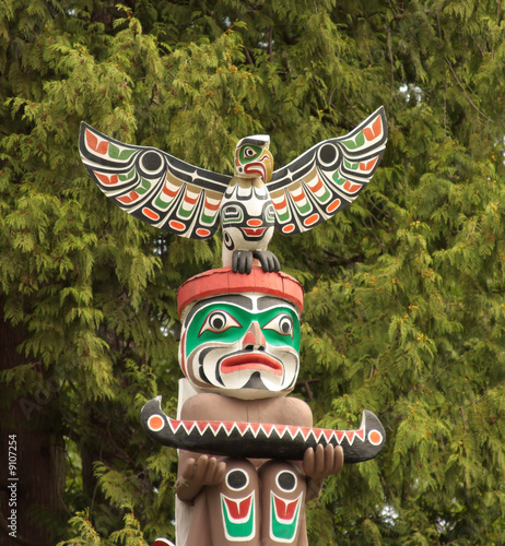 Totem Pole in Vancouver BC.