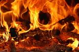 Feu Fire Flammes Flames Chaleur Heat poster