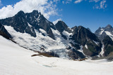 High mountain landscape with glacier poster