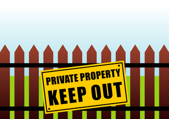 Private Property  Fence
