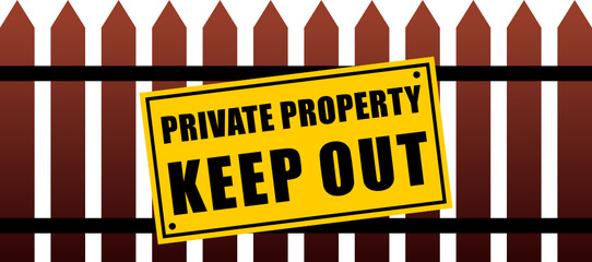 Private Property  Fence Isolate
