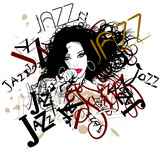 singer on a jazz background poster