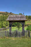 Wooden gate in Nadasa, Romania. poster