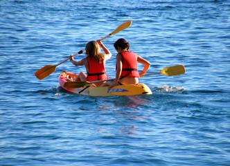 Summer adventure on sea