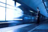 Fototapeta Metro - Ruch - Stacja Kolejowa