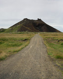 Road to Saxholl crater, Snaefellsnes Peninsula, Iceland. poster