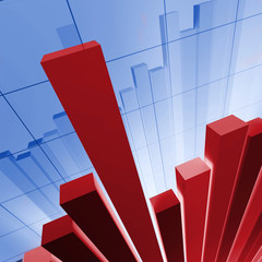IMAGE 3D OF financial stat background