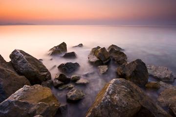 Sunset and Rocks