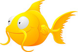 Goldfish clipart illustration poster