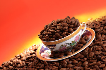 A cup of Coffee Seeds