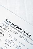 Verdienstabrechnung poster