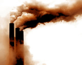Scary Image of Power Plant emissions in america poster