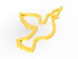 symbol peace dove gold poster