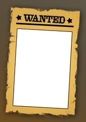 Old West card template 05