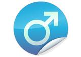 Sticker du symbole masculin (détouré) poster