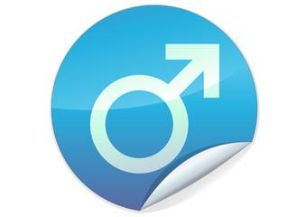 Sticker du symbole masculin (détouré)