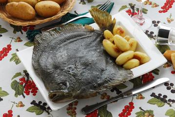 Rombo al forno con patate - Secondi di pesce