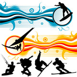 extreme sport graphics vector poster