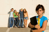 bullying at school or college poster