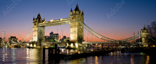 canvas print picture Tower Bridge Panorama